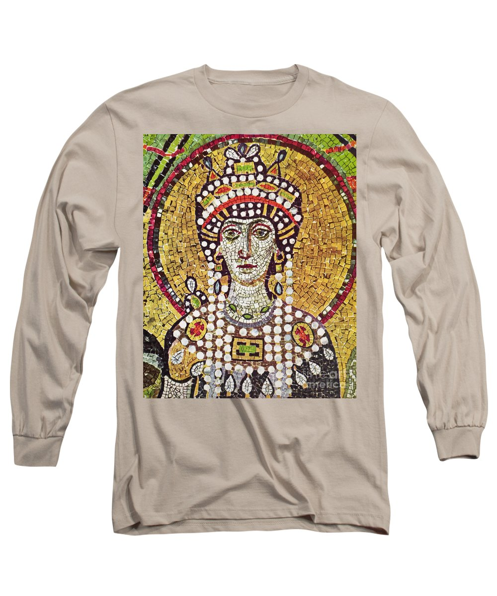 6th Century Long Sleeve T-Shirt featuring the painting Theodora (c508-548) by Granger