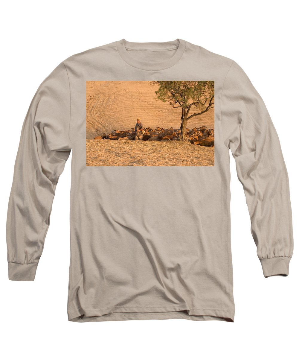 Goat Long Sleeve T-Shirt featuring the photograph Goatherd by Mal Bray
