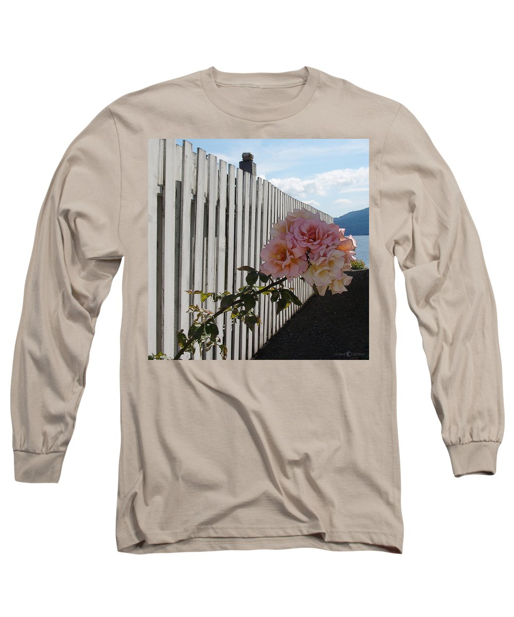 Rose Long Sleeve T-Shirt featuring the photograph Orcas Island Rose by Tim Nyberg