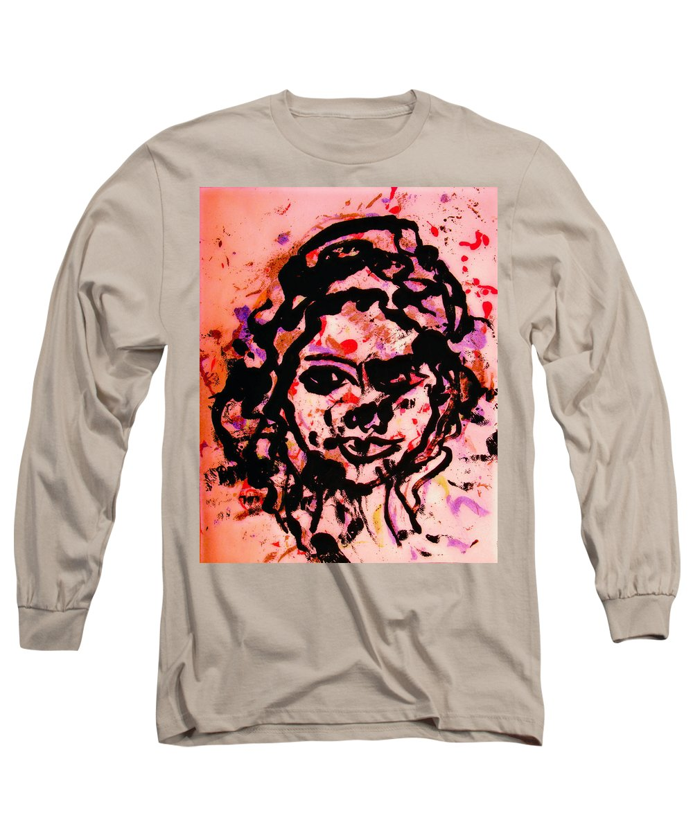Portrait Long Sleeve T-Shirt featuring the painting Self Portrait by Natalie Holland