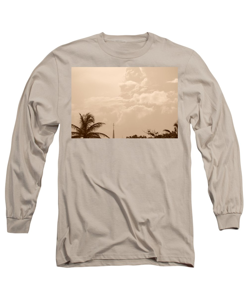 Sepia Long Sleeve T-Shirt featuring the photograph Sepia Sky by Rob Hans