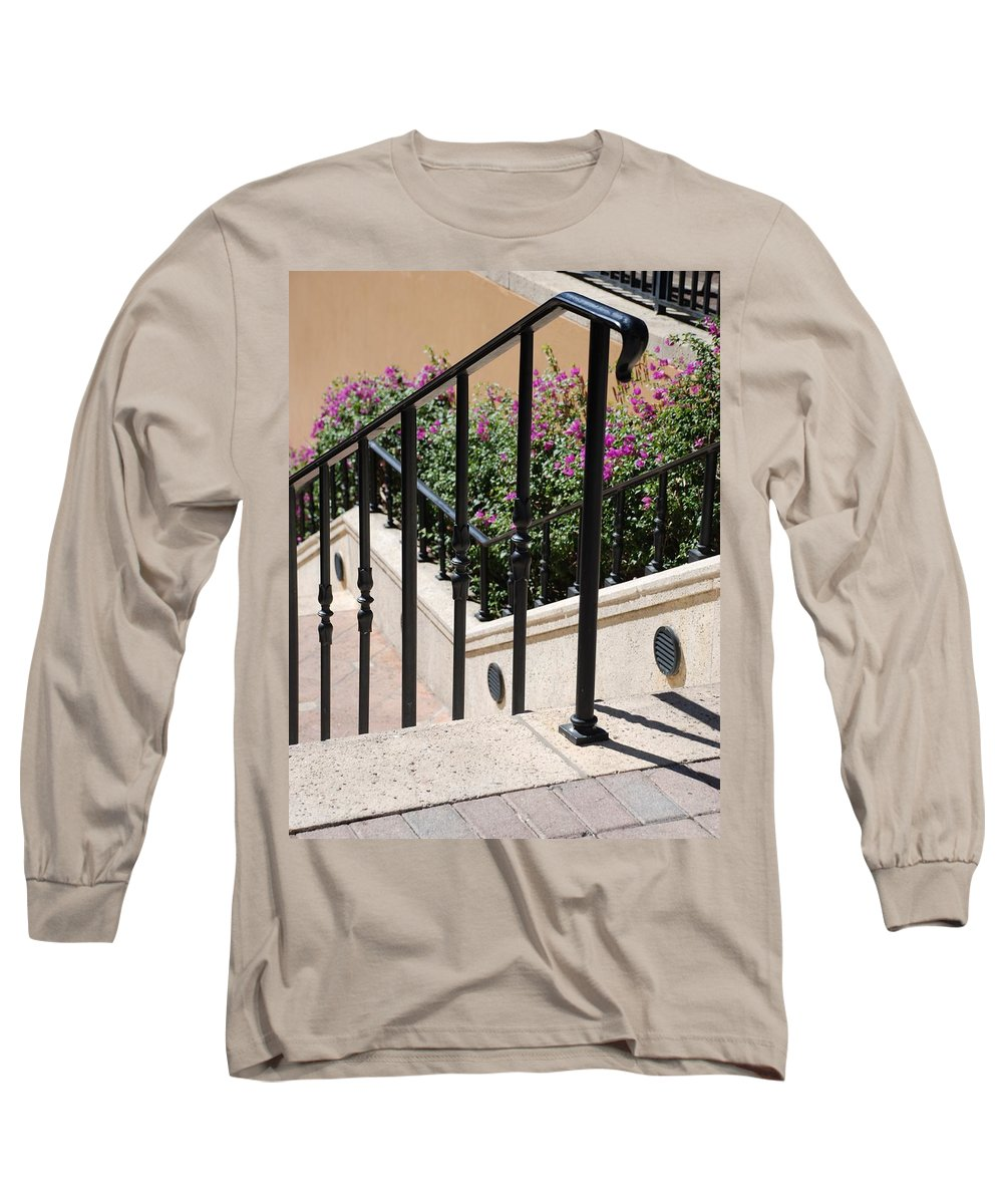 Stairs Long Sleeve T-Shirt featuring the photograph Stairs And Rails by Rob Hans