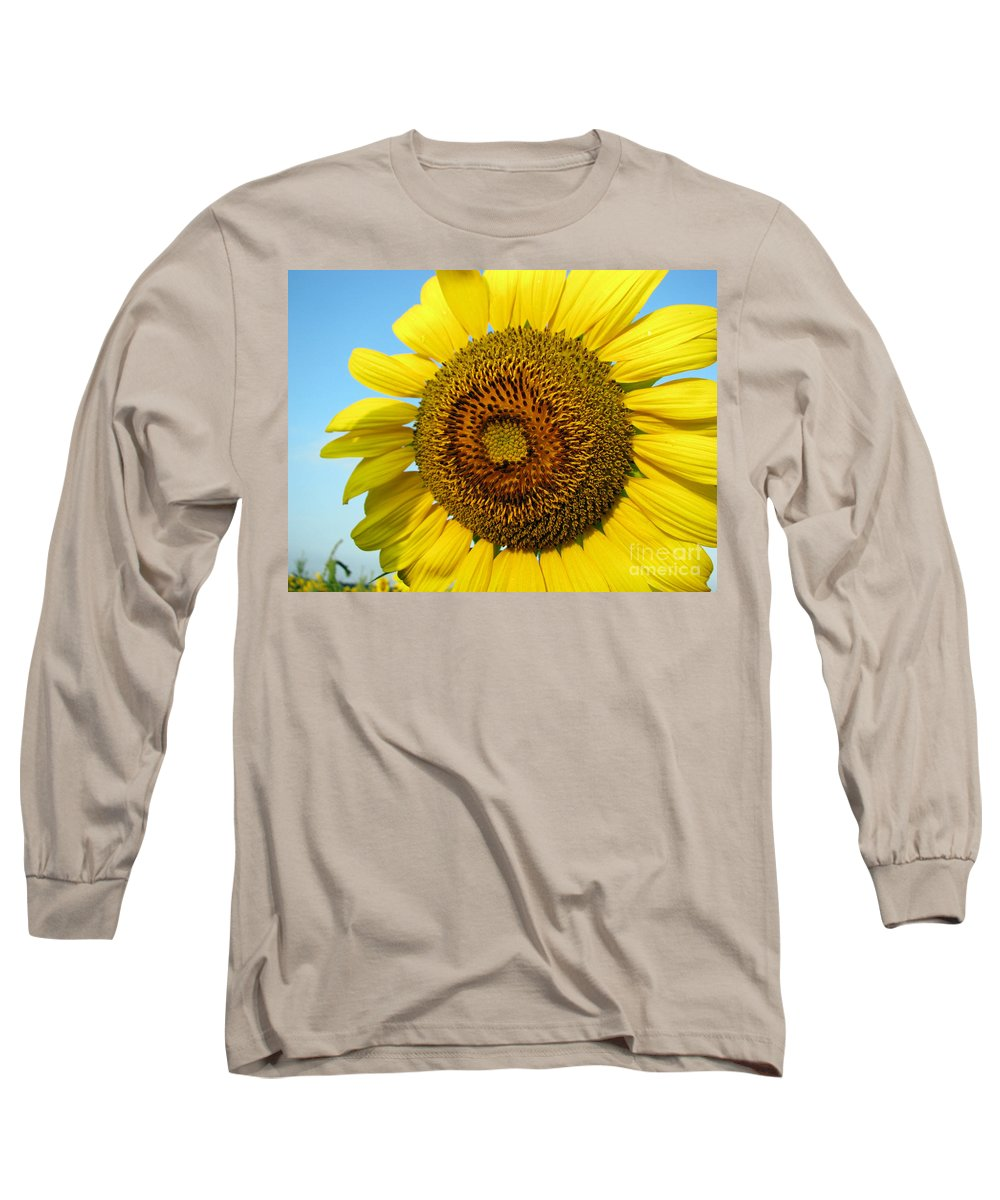 Sunflower Long Sleeve T-Shirt featuring the photograph Sunflower Series by Amanda Barcon