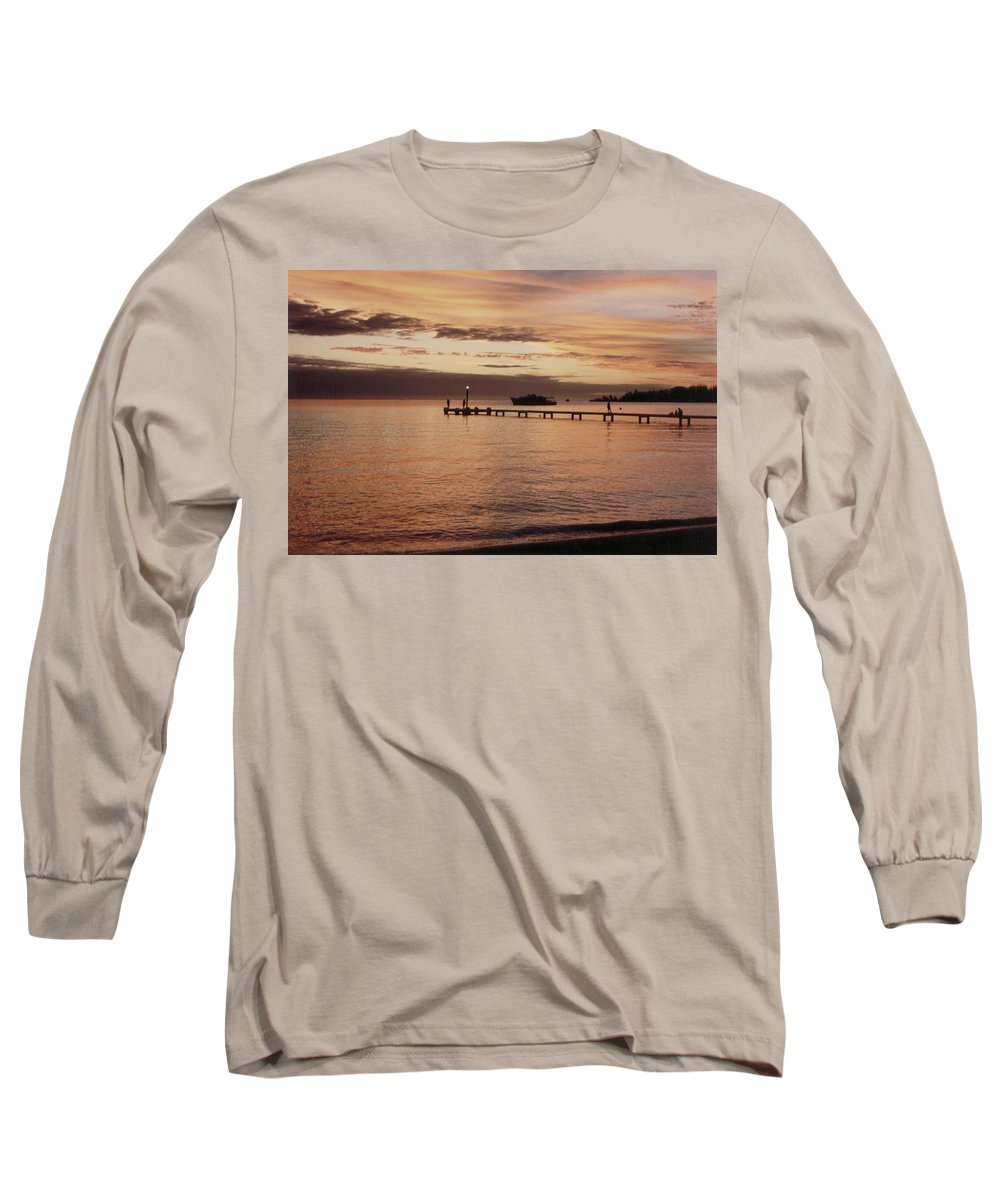 Sunset Long Sleeve T-Shirt featuring the photograph Sunset In Paradise by Mary-Lee Sanders