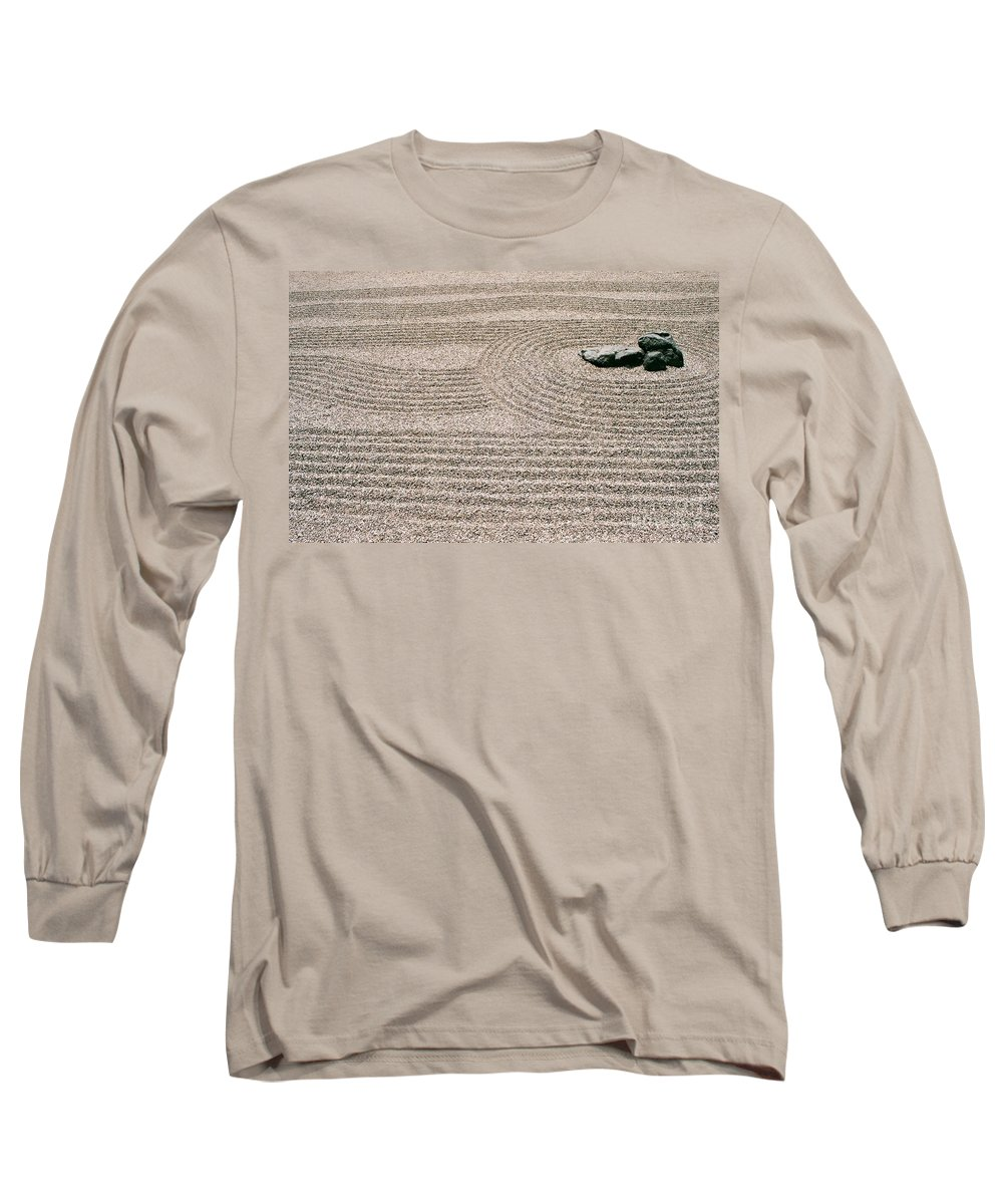 Zen Long Sleeve T-Shirt featuring the photograph Zen Garden by Dean Triolo