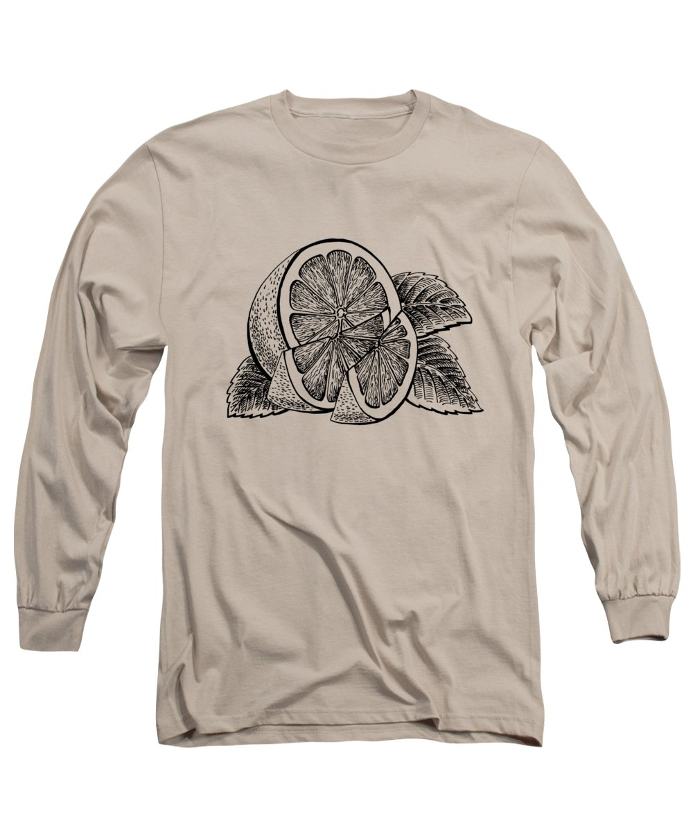 Lemon Long Sleeve T-Shirt featuring the painting Lemon by Irina Sztukowski
