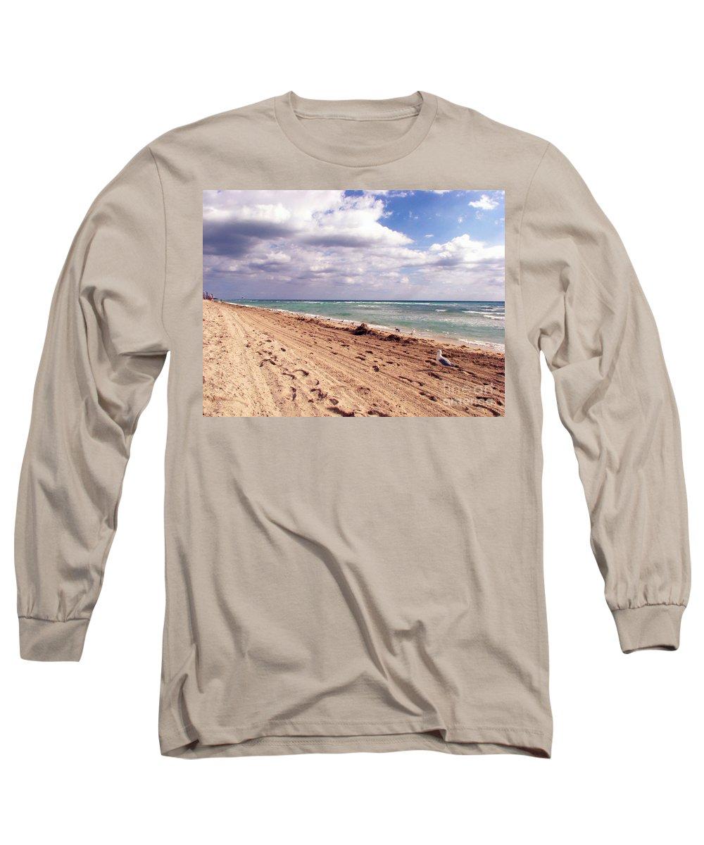 Beaches Long Sleeve T-Shirt featuring the photograph Miami Beach by Amanda Barcon