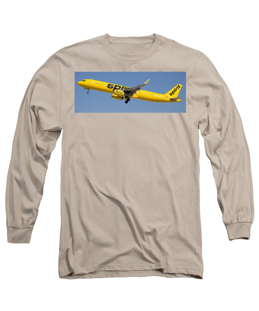 Spirit Long Sleeve T-Shirt featuring the photograph Spirit Airline by Dart and Suze Humeston