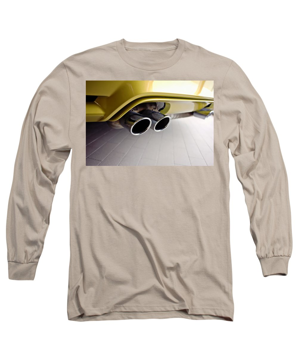 2015 Bmw M4 Long Sleeve T-Shirt featuring the photograph 2015 Bmw M4 Exhaust by Aaron Berg