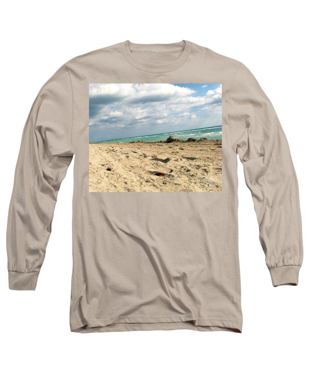 Miami Long Sleeve T-Shirt featuring the photograph Miami Beach by Amanda Barcon