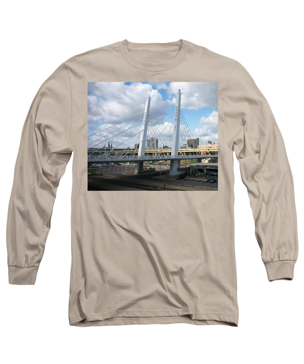 Bridge Long Sleeve T-Shirt featuring the photograph 6th Street Bridge by Anita Burgermeister