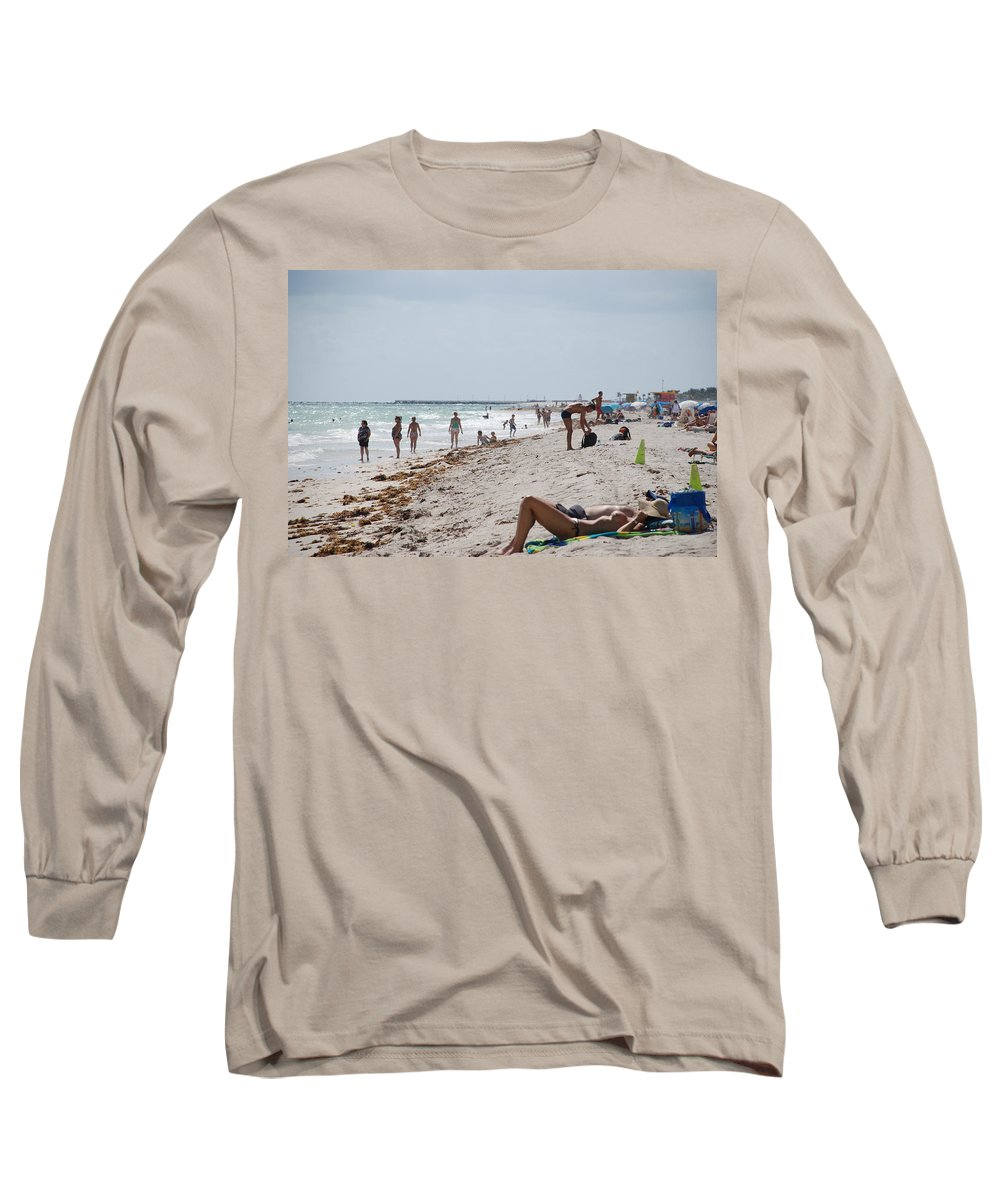 Nude Long Sleeve T-Shirt featuring the photograph A Day At Paradise Beach by Rob Hans