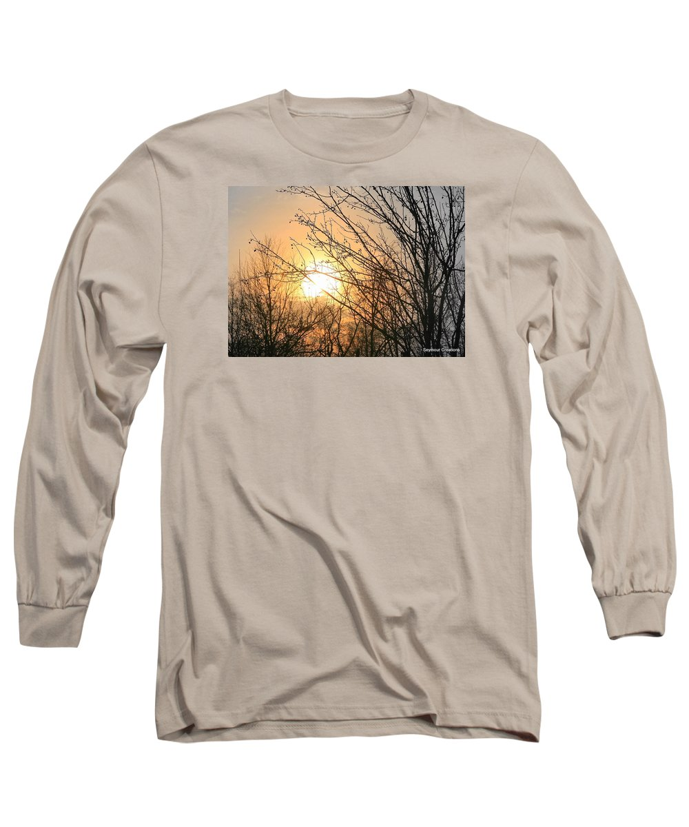Sun Long Sleeve T-Shirt featuring the photograph A Winter's Day After Glow by J R Seymour