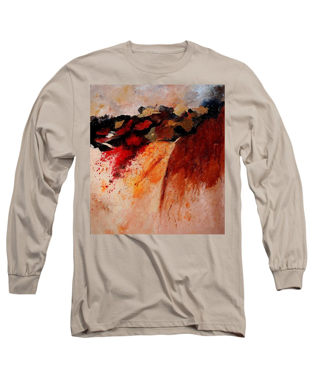Abstract Long Sleeve T-Shirt featuring the painting Abstract 010607 by Pol Ledent