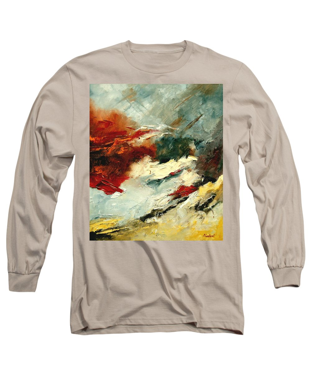 Abstract Long Sleeve T-Shirt featuring the painting Abstract 9 by Pol Ledent