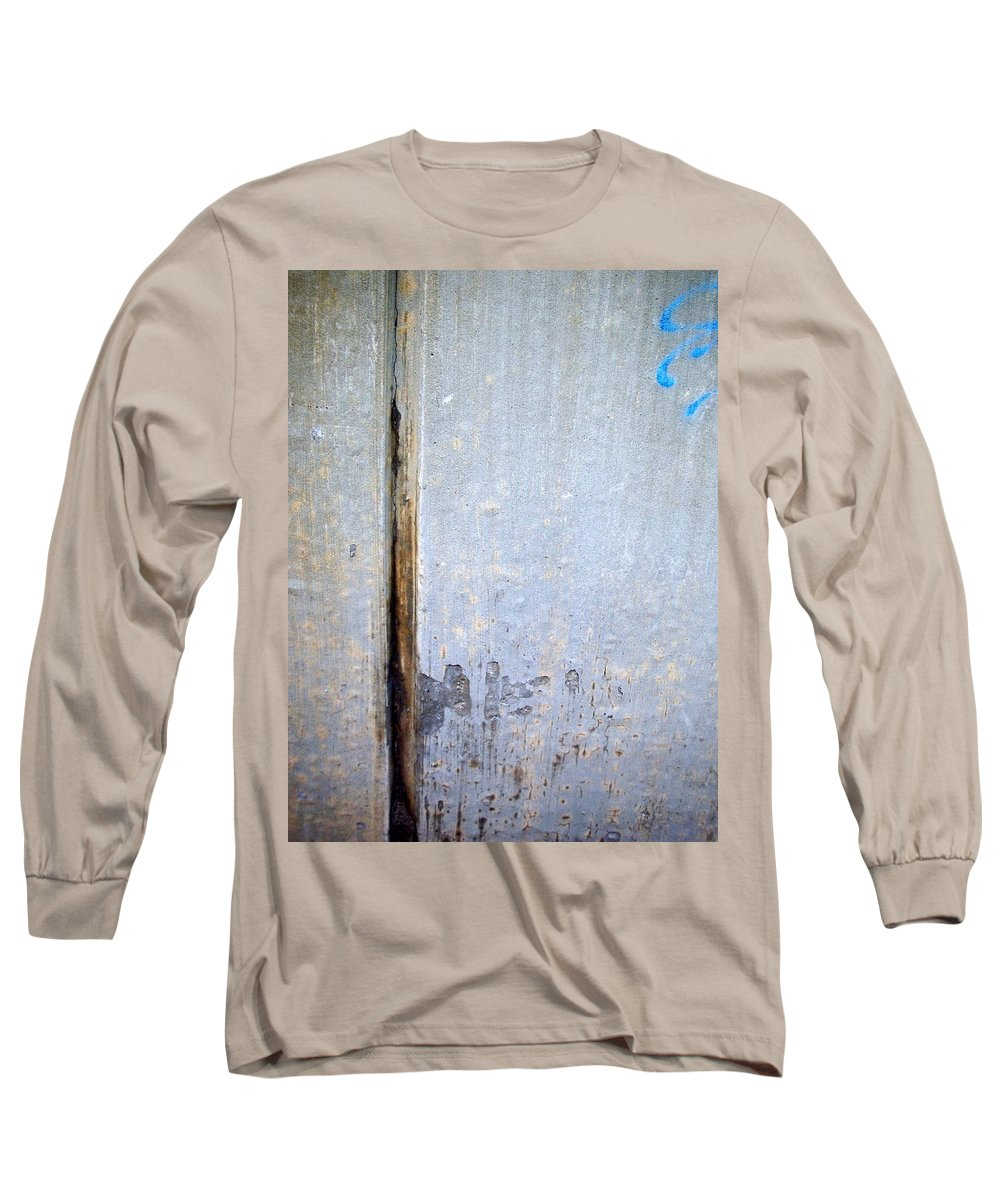 Industrial. Urban Long Sleeve T-Shirt featuring the photograph Abstract Concrete 19 by Anita Burgermeister