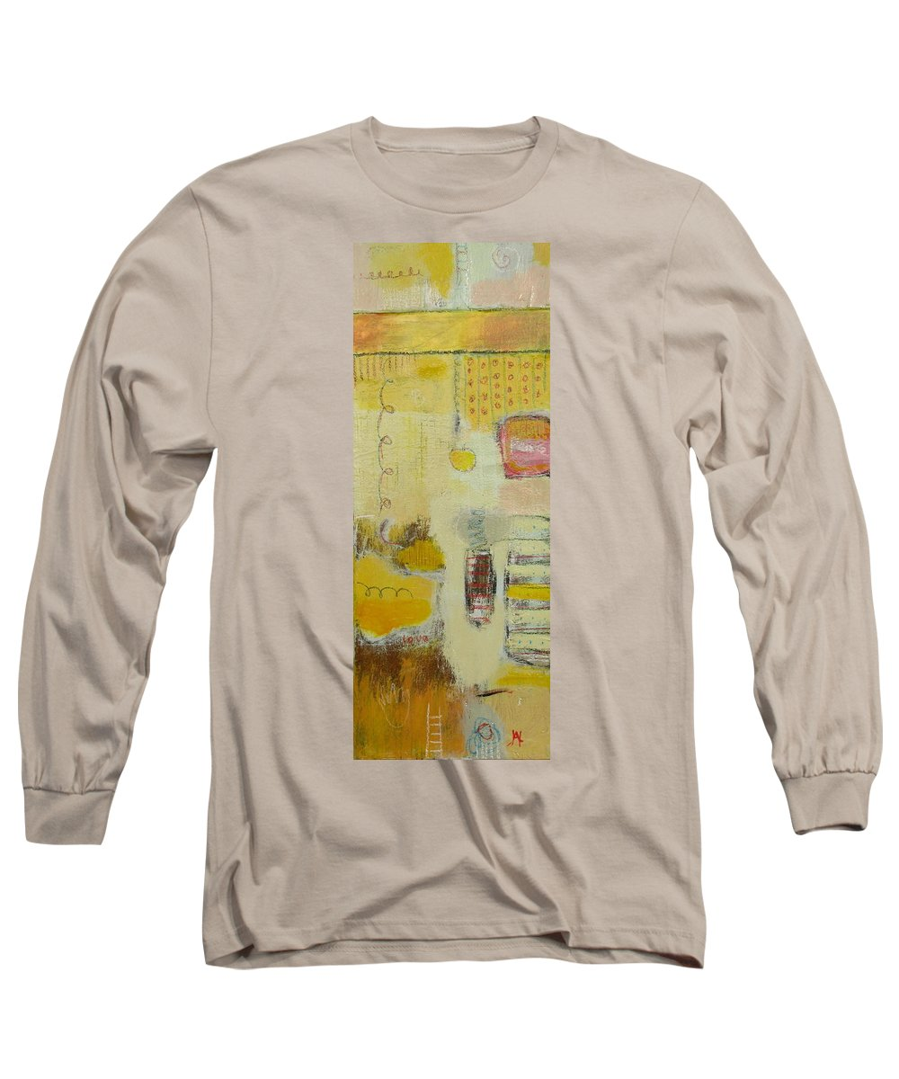 Abstract Long Sleeve T-Shirt featuring the painting Abstract Life 1 by Habib Ayat