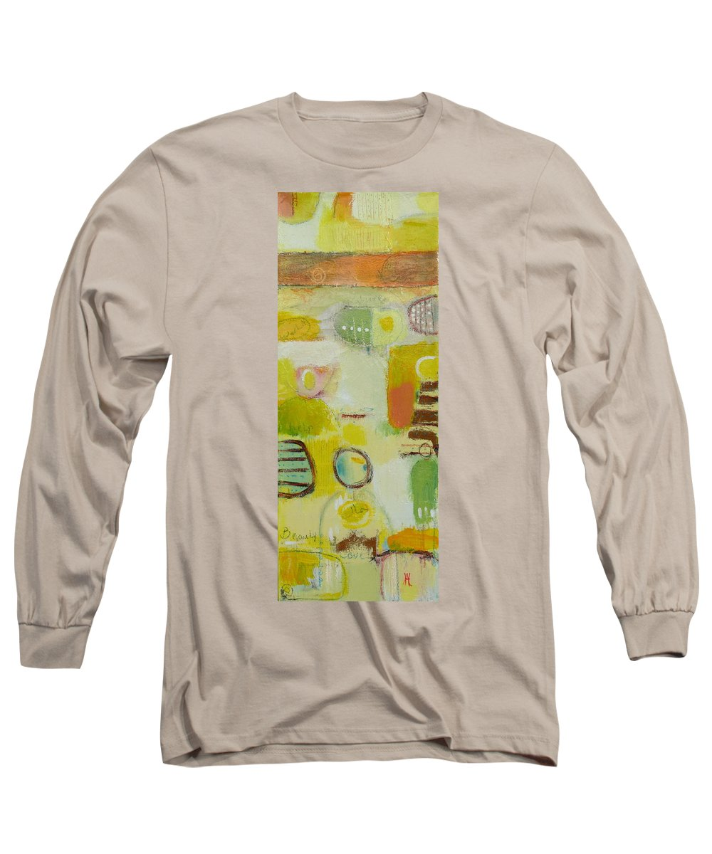 Long Sleeve T-Shirt featuring the painting Abstract Life 2 by Habib Ayat