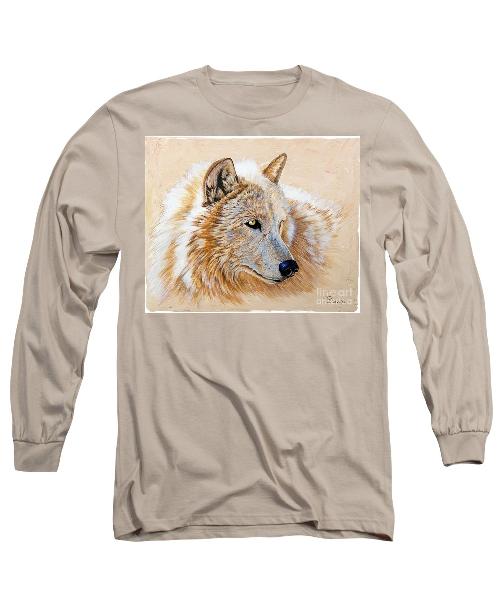 Acrylic Long Sleeve T-Shirt featuring the painting Adobe White by Sandi Baker