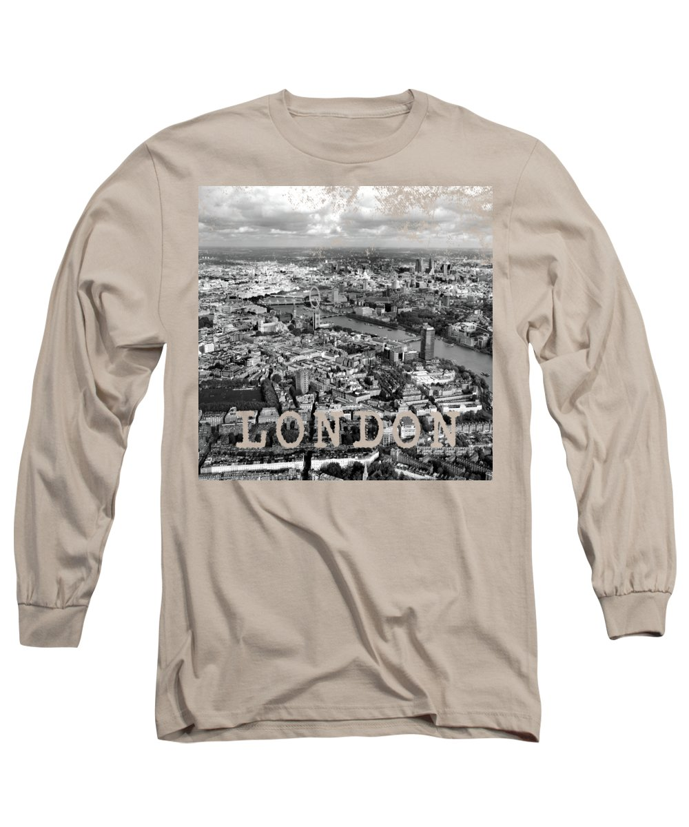 London Long Sleeve T-Shirt featuring the photograph Aerial View Of London by Mark Rogan