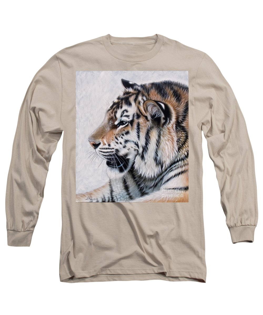 Acrylic Long Sleeve T-Shirt featuring the painting Amur by Sandi Baker