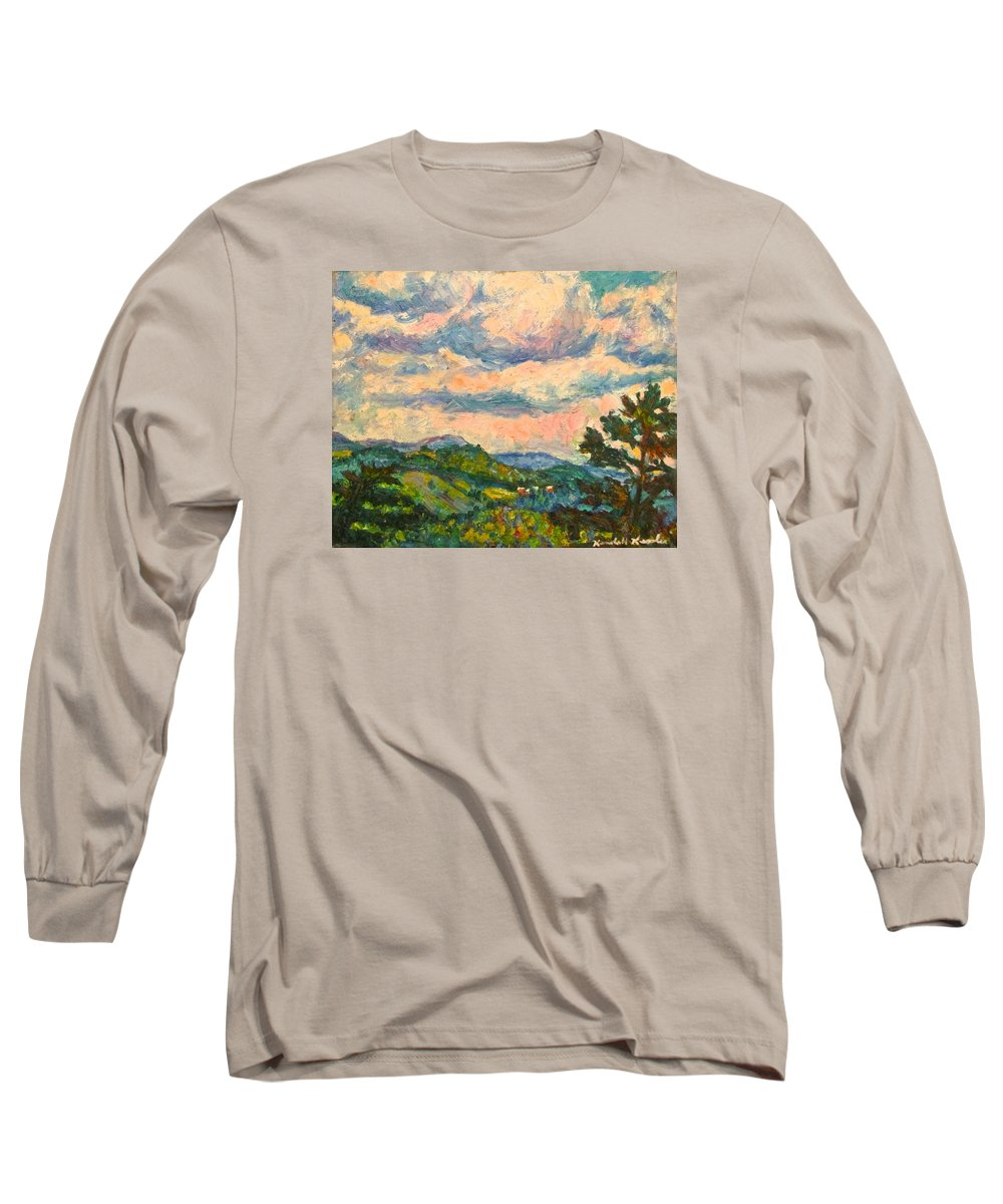 Landscape Paintings Long Sleeve T-Shirt featuring the painting Another Rocky Knob by Kendall Kessler