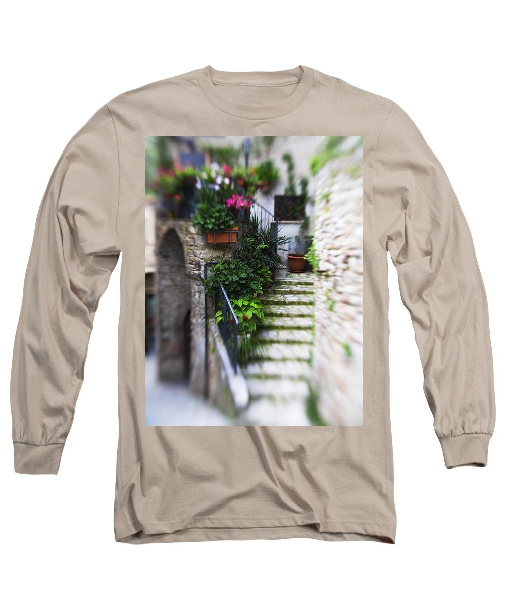 Italy Long Sleeve T-Shirt featuring the photograph Archway And Stairs by Marilyn Hunt
