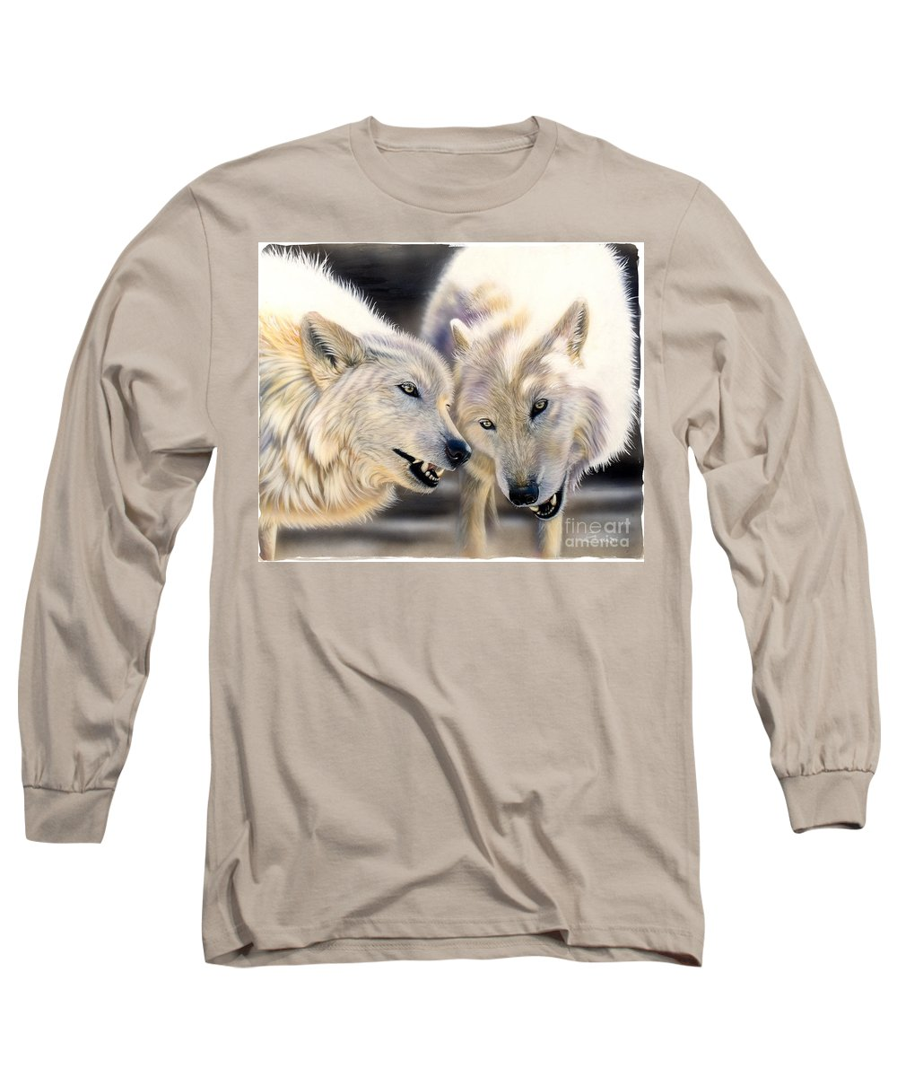 Acrylics Long Sleeve T-Shirt featuring the painting Arctic Pair by Sandi Baker