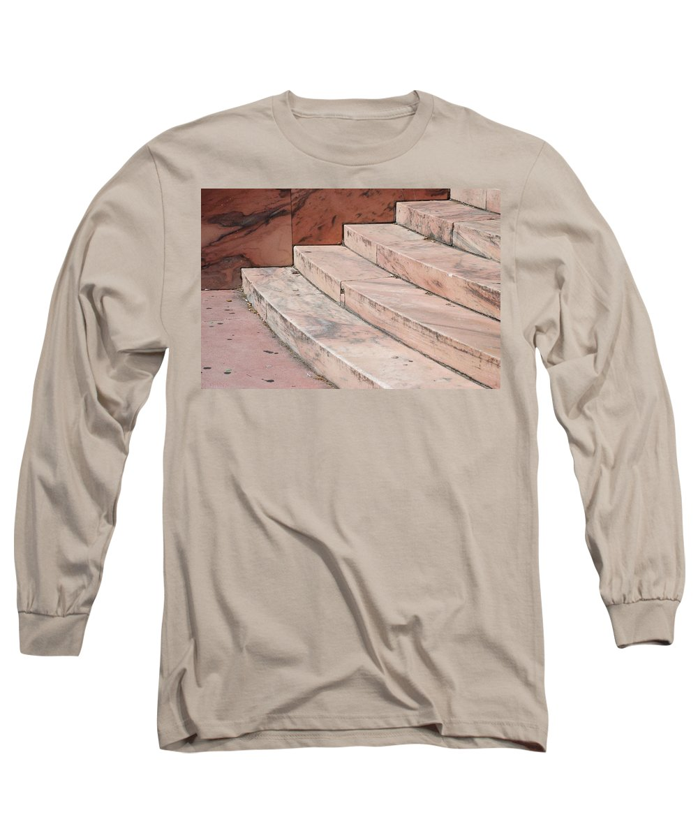 Architecture Long Sleeve T-Shirt featuring the photograph Art Deco Steps by Rob Hans