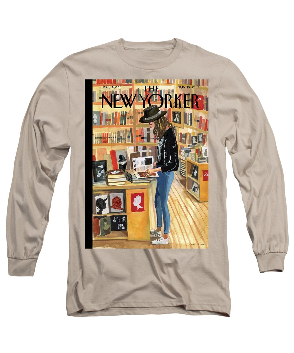 At The Strand Long Sleeve T-Shirt featuring the digital art At The Strand by Jenny Kroik