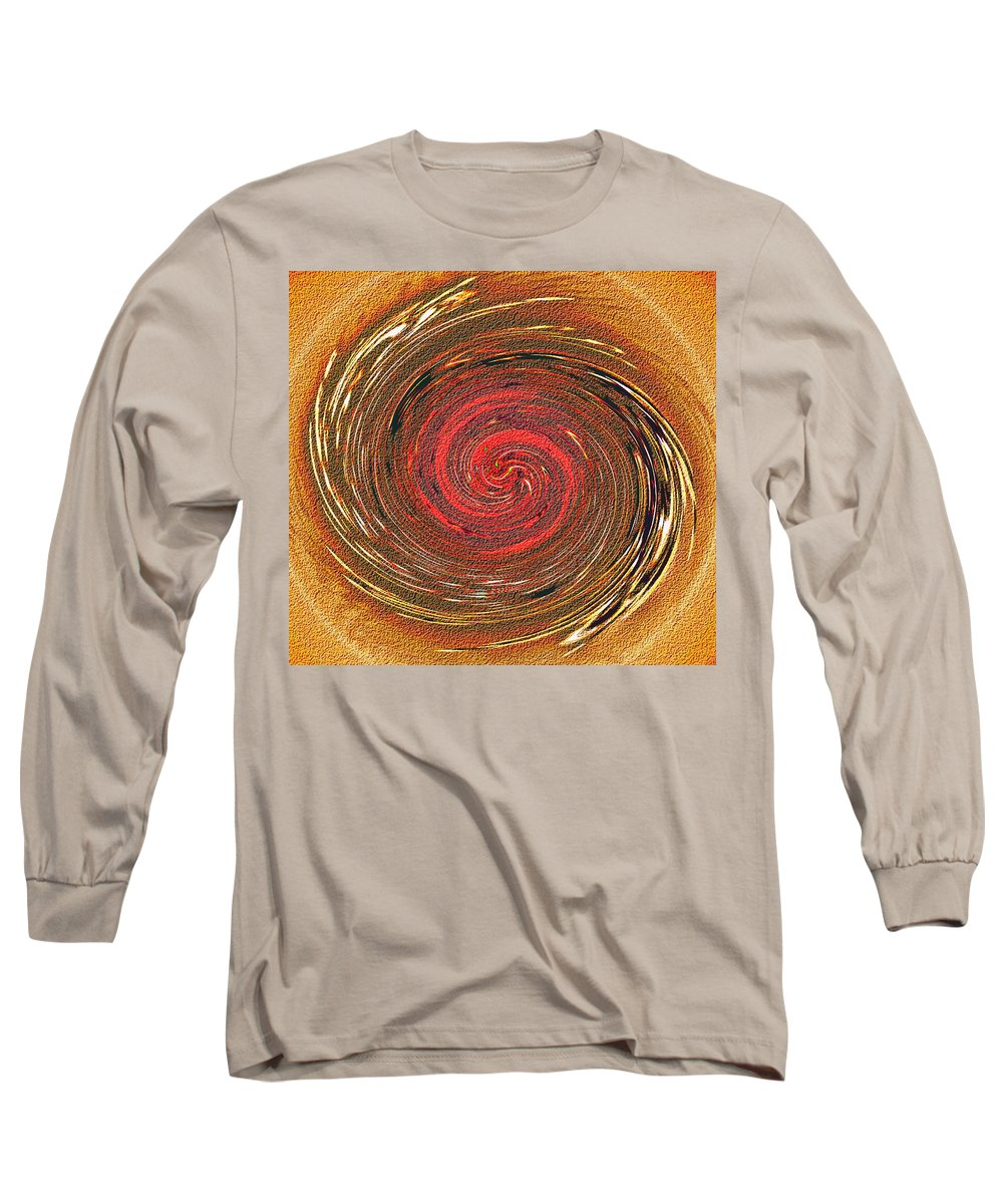 Abstract Long Sleeve T-Shirt featuring the digital art Atlantean Fire by Don Quackenbush