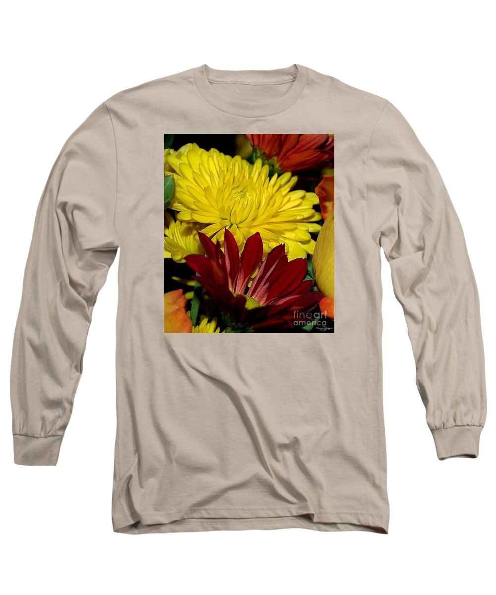 Chrysanthemum Photography Long Sleeve T-Shirt featuring the photograph Autumn Colors by Patricia Griffin Brett