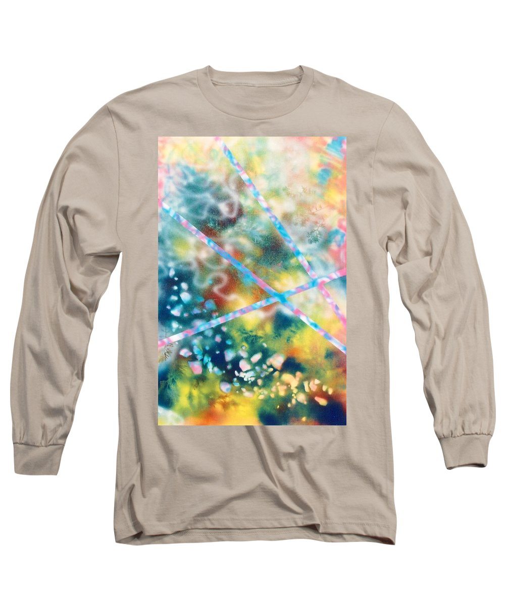 Abstract Long Sleeve T-Shirt featuring the painting Autumn by Micah Guenther