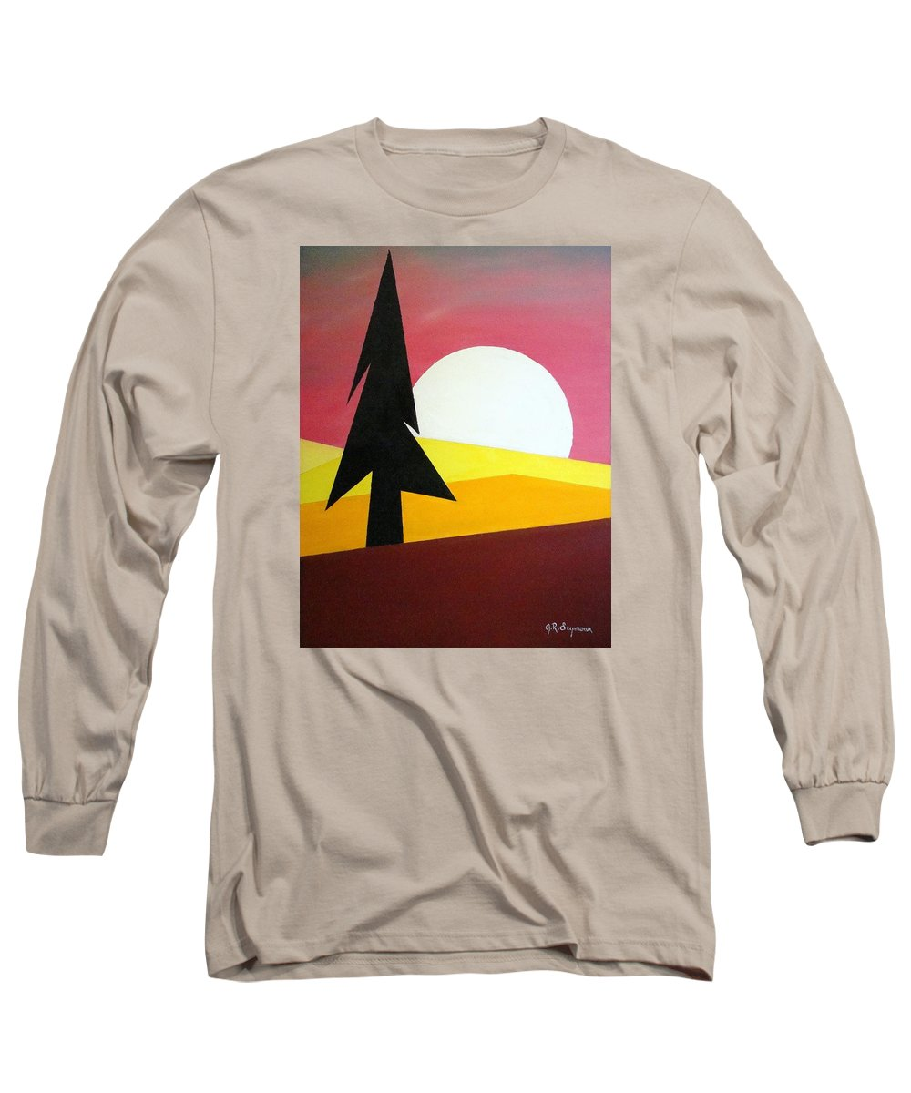 Phases Of The Moon Long Sleeve T-Shirt featuring the painting Bad Moon Rising by J R Seymour