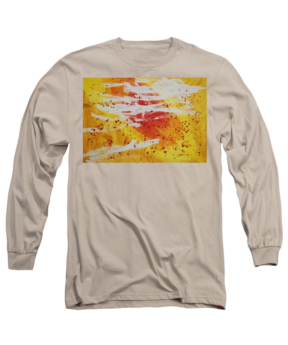 Abstract Long Sleeve T-Shirt featuring the painting Bailando En El Sol by Lauren Luna