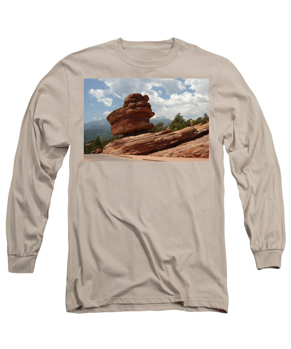Colorado Long Sleeve T-Shirt featuring the photograph Balance Rock by Anita Burgermeister
