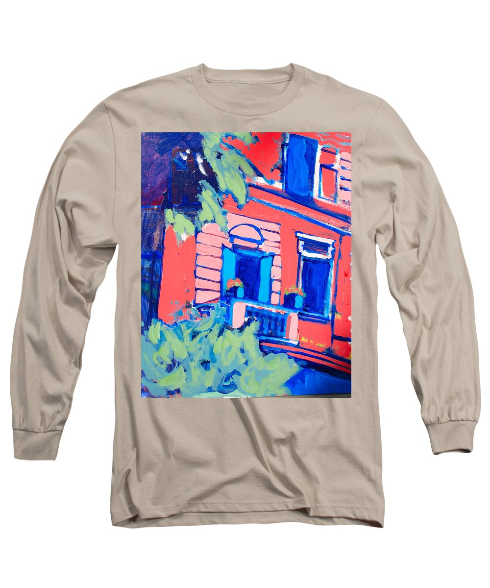 Balcony Long Sleeve T-Shirt featuring the painting Balcone by Kurt Hausmann