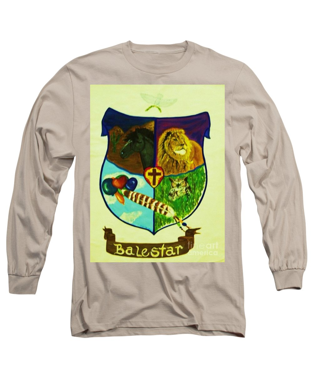 Lion Long Sleeve T-Shirt featuring the painting Balestar Crest by Jamey Balester