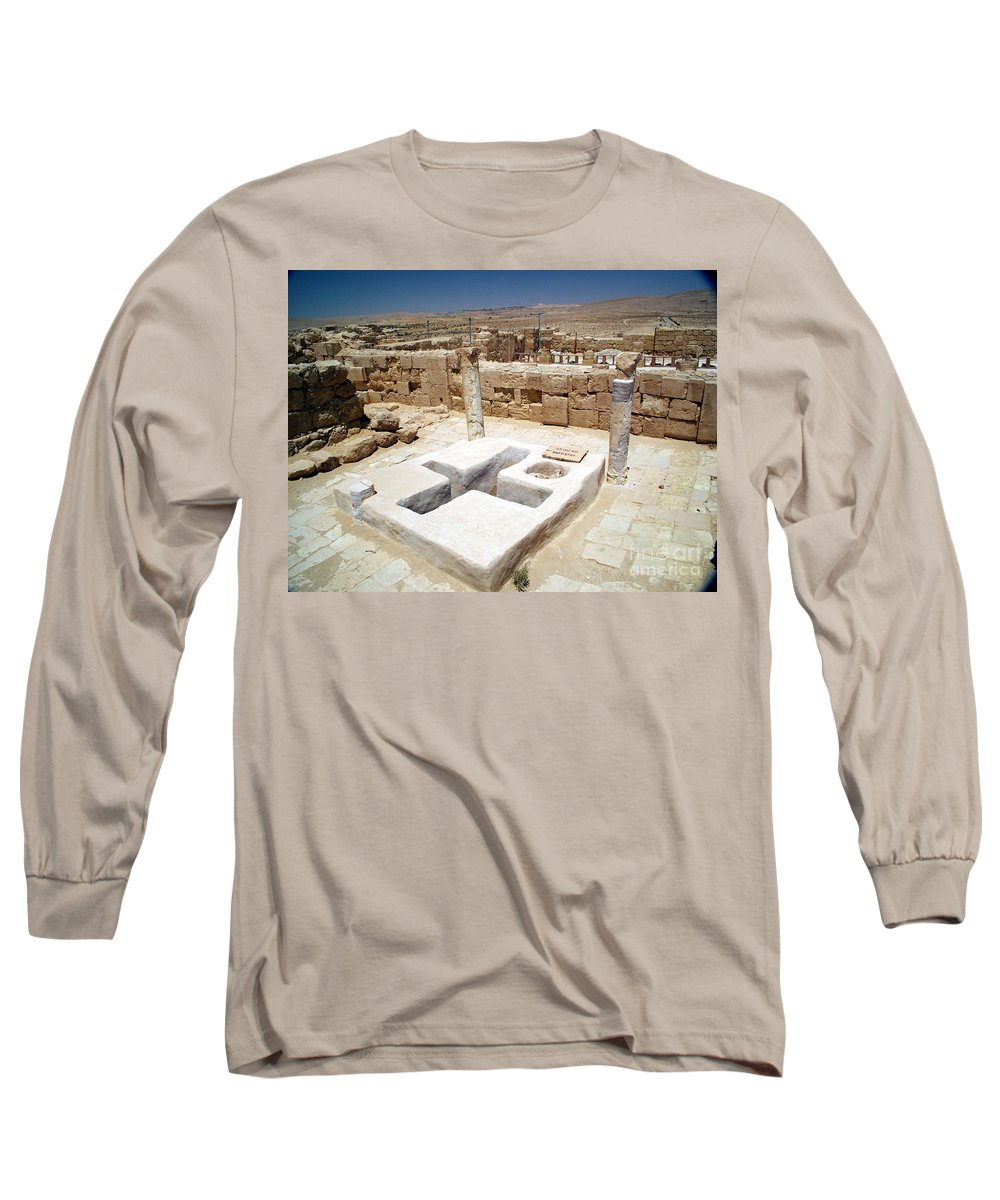 Baptistery Long Sleeve T-Shirt featuring the photograph Baptistery Eastern Church Mamshit Israel by Avi Horovitz