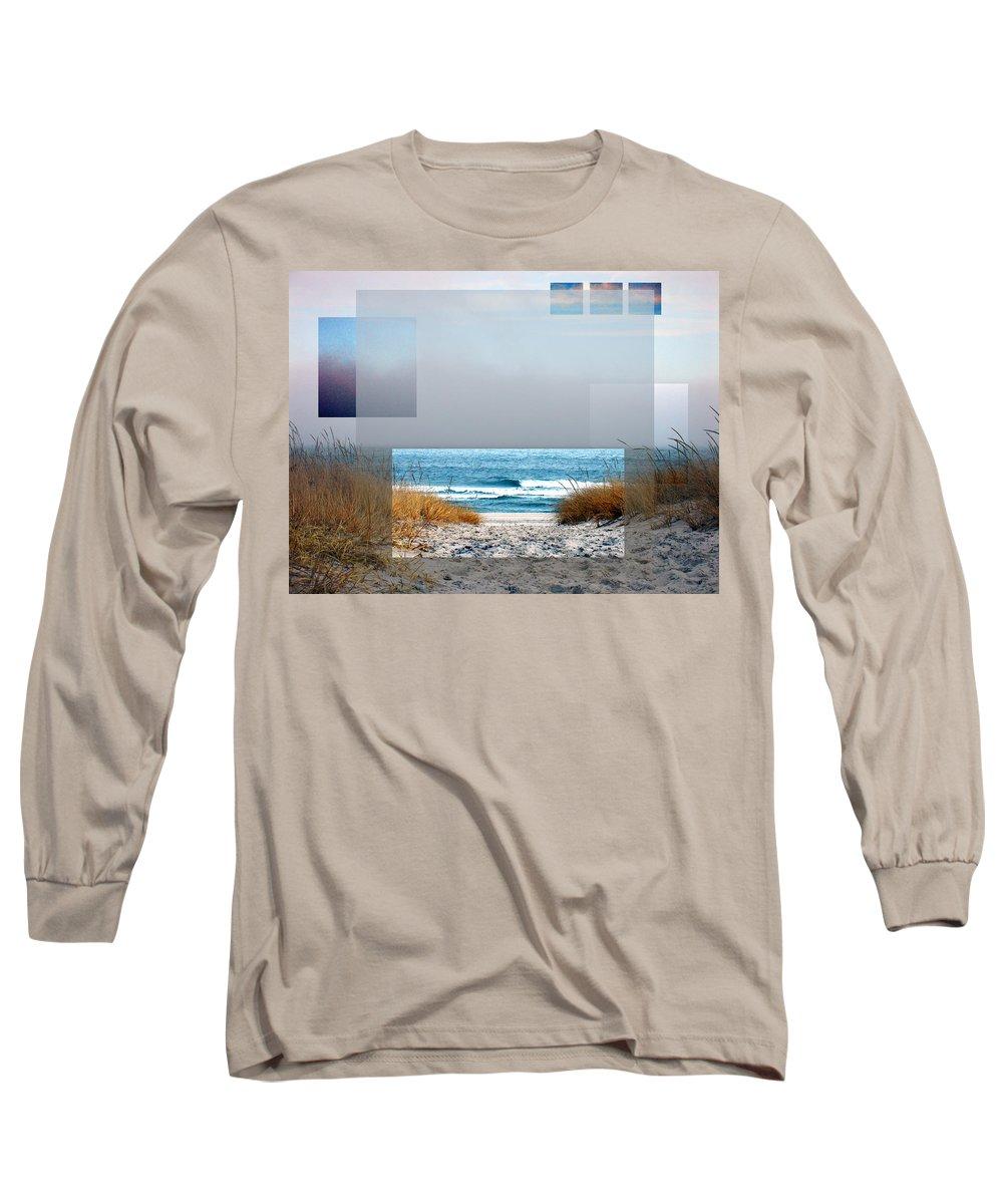 Beach Long Sleeve T-Shirt featuring the photograph Beach Collage by Steve Karol
