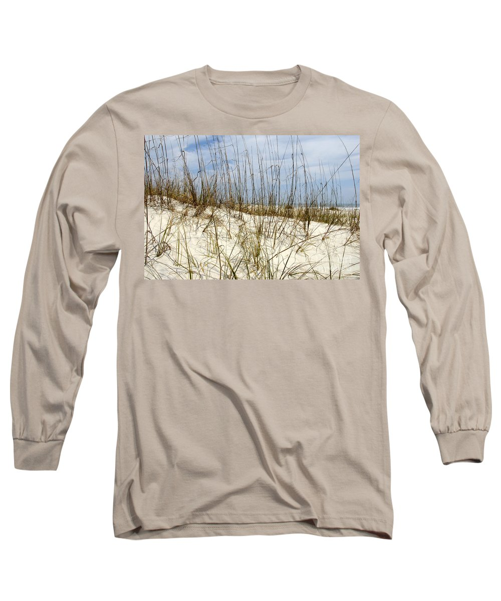 Beach Long Sleeve T-Shirt featuring the photograph Beach Dunes by David Lee Thompson