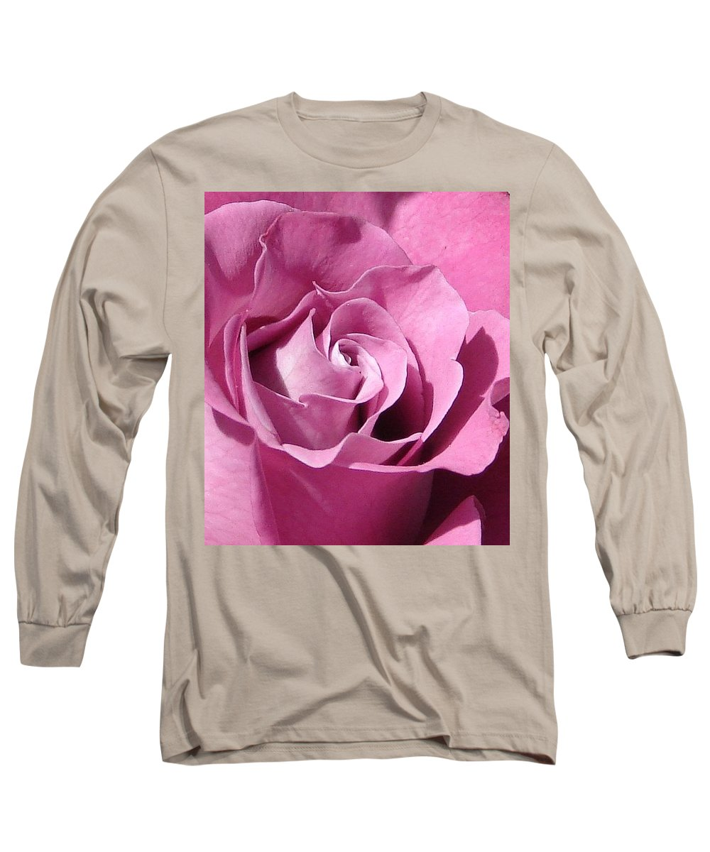 Rose Pink Long Sleeve T-Shirt featuring the photograph Big Pink by Luciana Seymour