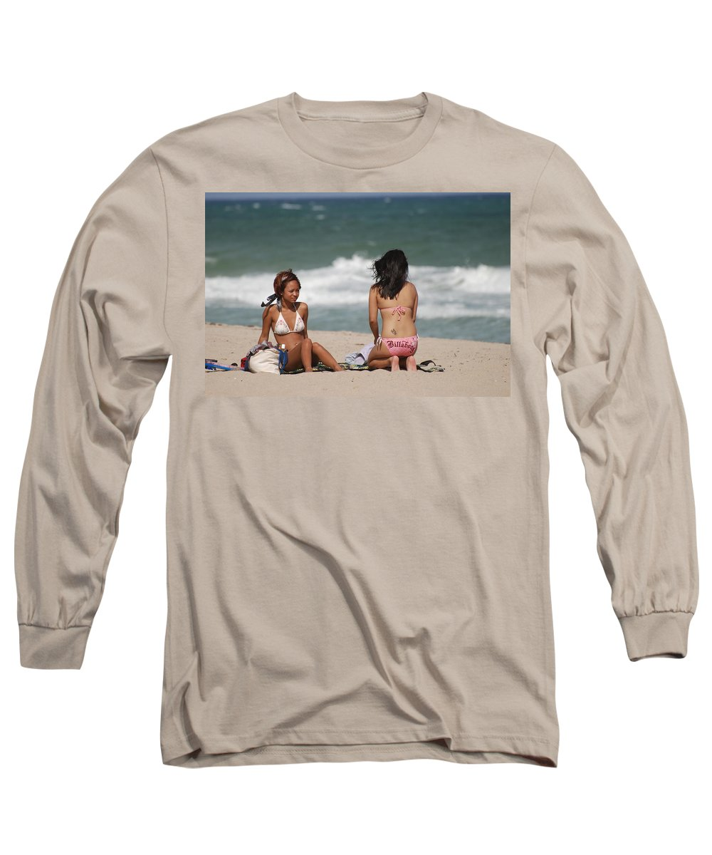Sea Scape Long Sleeve T-Shirt featuring the photograph Billabong Girls by Rob Hans