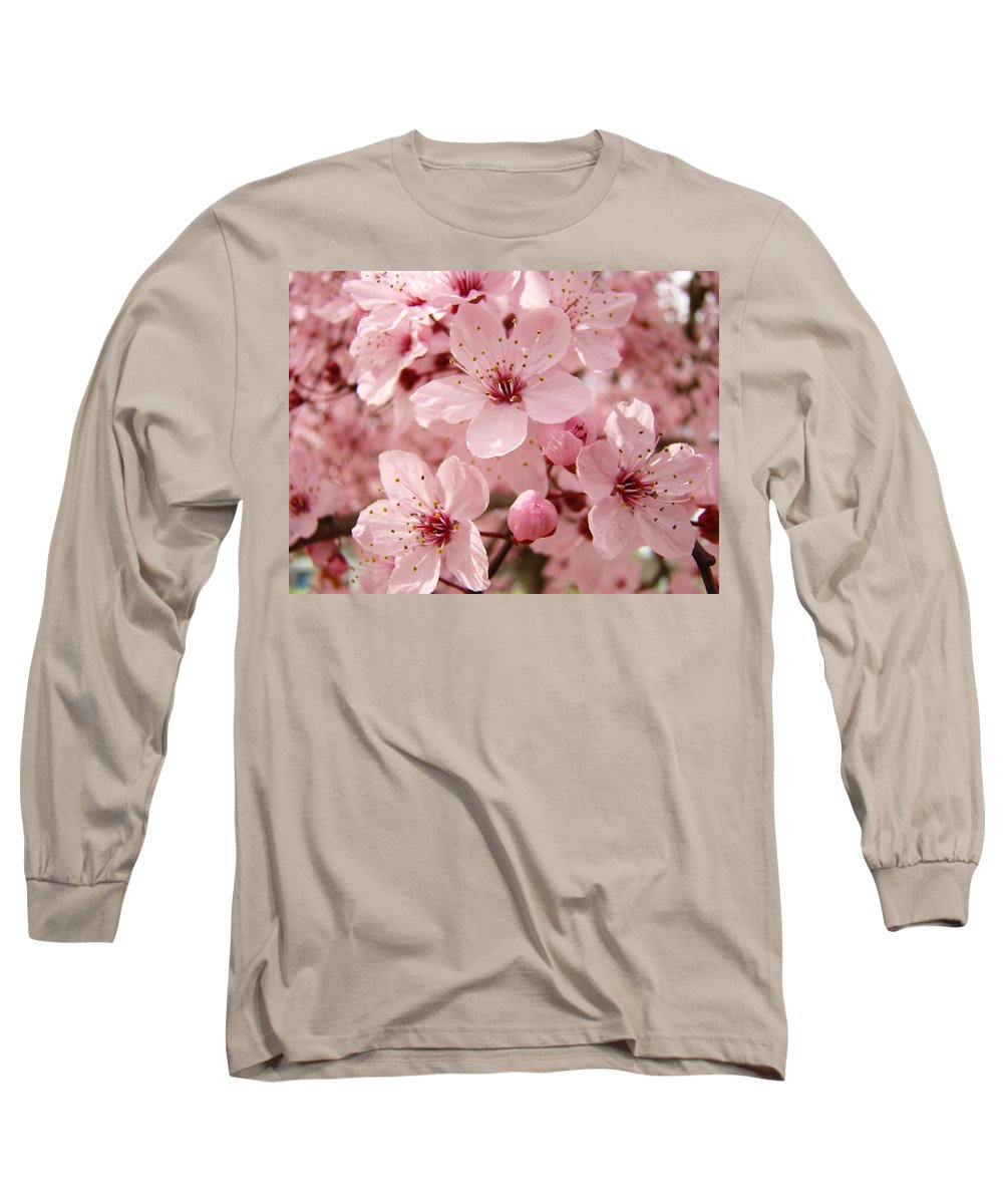 Nature Long Sleeve T-Shirt featuring the photograph Blossoms Art Prints 63 Pink Blossoms Spring Tree Blossoms by Baslee Troutman