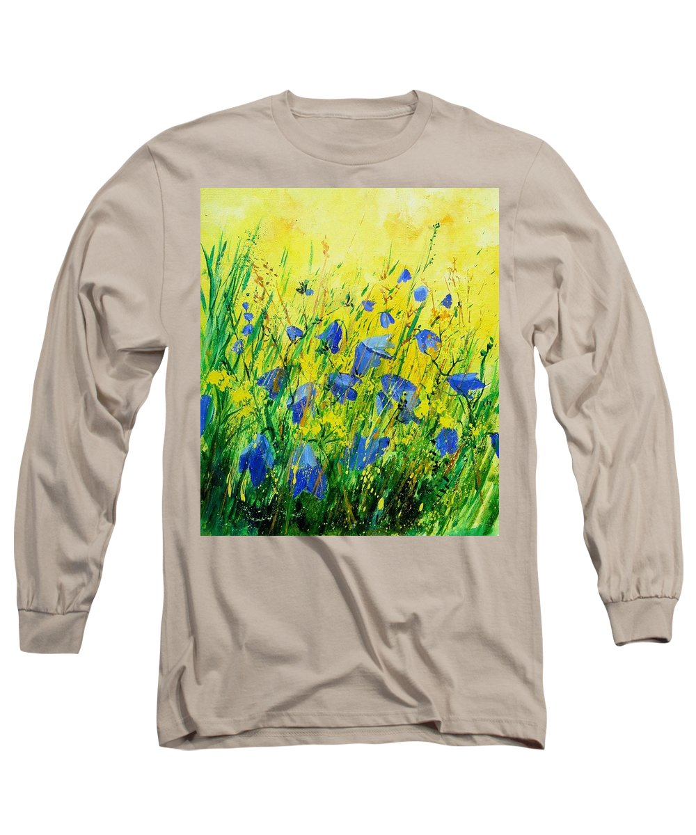 Poppies Long Sleeve T-Shirt featuring the painting Blue Bells by Pol Ledent