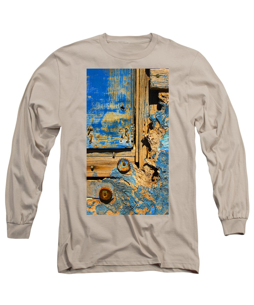 Abstract Long Sleeve T-Shirt featuring the photograph Blues Dues by Skip Hunt