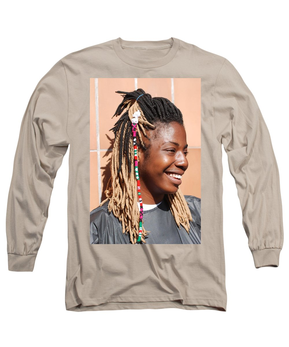 People Long Sleeve T-Shirt featuring the photograph Braided Lady by Rob Hans