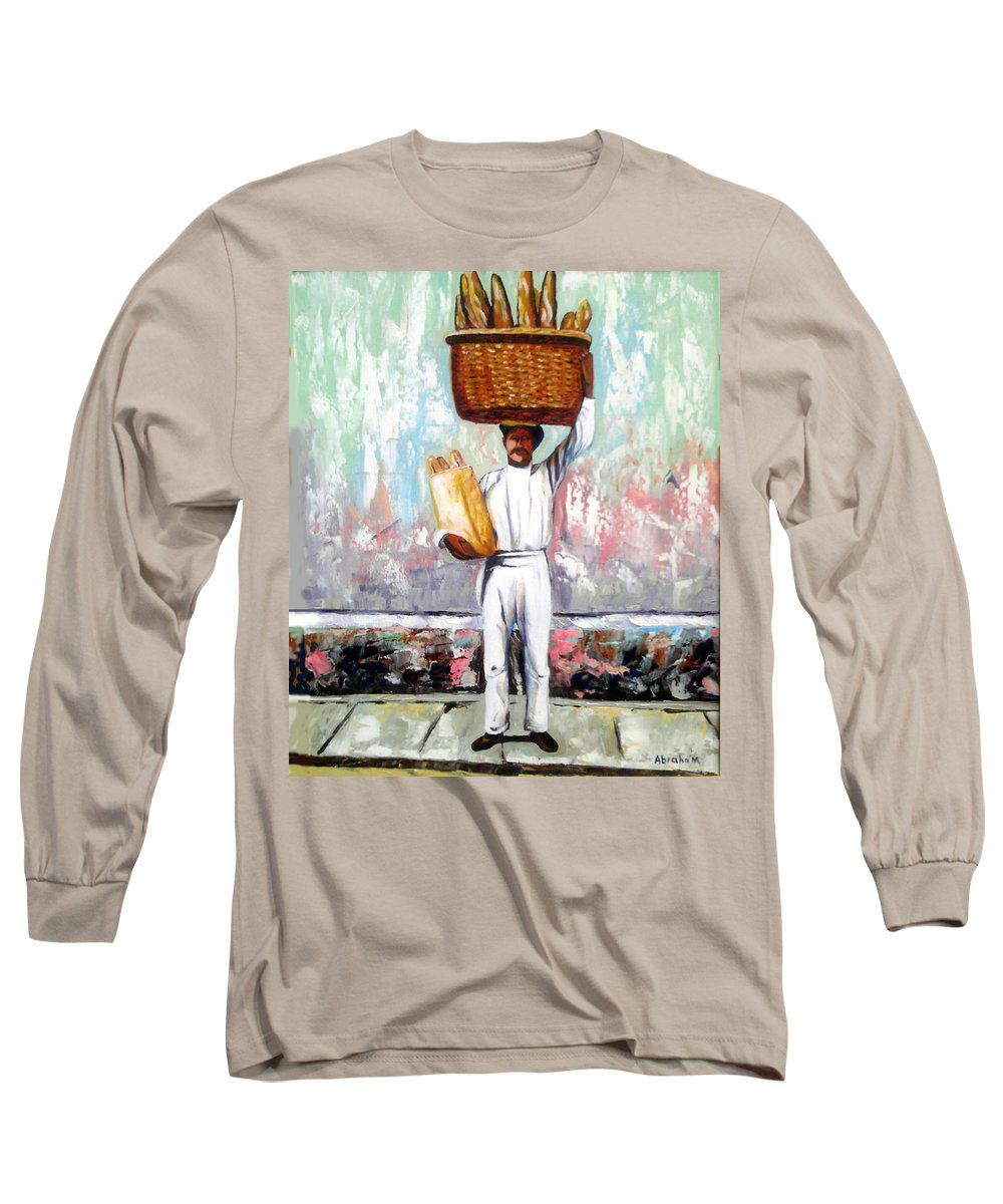 Bread Long Sleeve T-Shirt featuring the painting Breadman by Jose Manuel Abraham