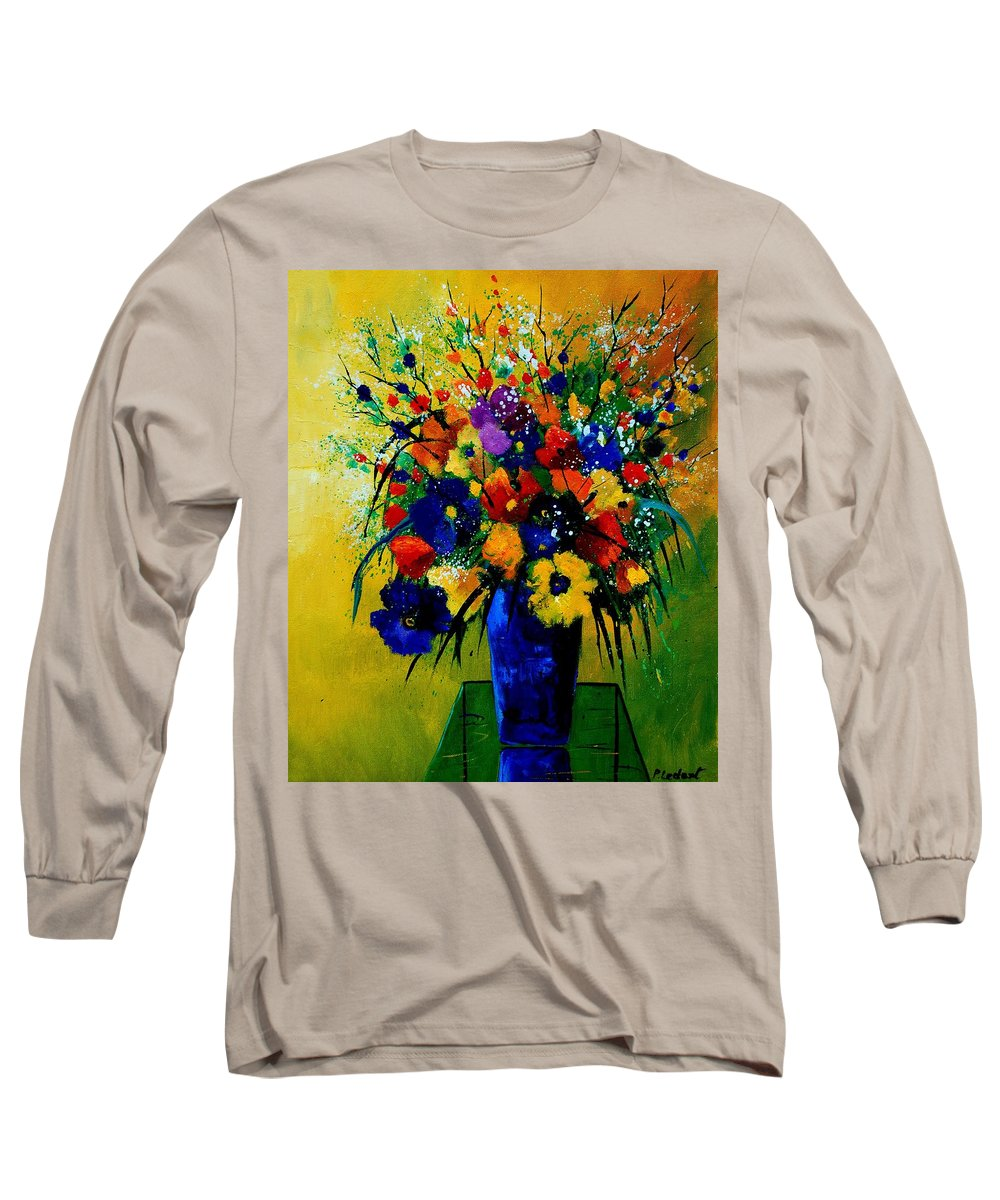 Poppies Long Sleeve T-Shirt featuring the painting Bunch 0508 by Pol Ledent
