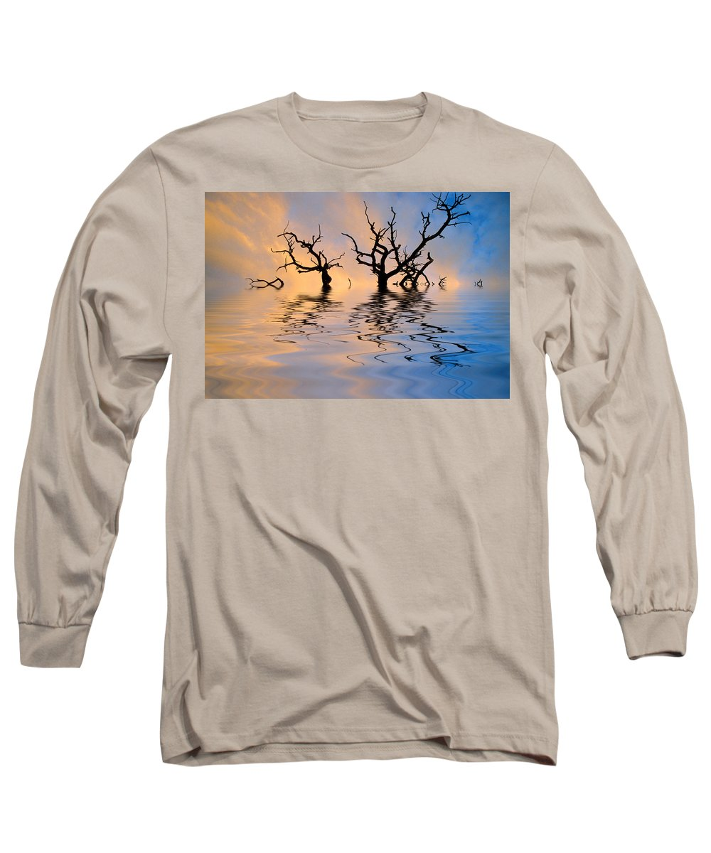 Original Art Long Sleeve T-Shirt featuring the photograph Slowly Sinking by Jerry McElroy